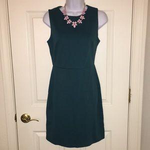 Gorgeous NWOT deep green/teal ponte sheathe dress